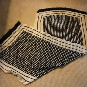 J.Crew Black and White Large Scarf
